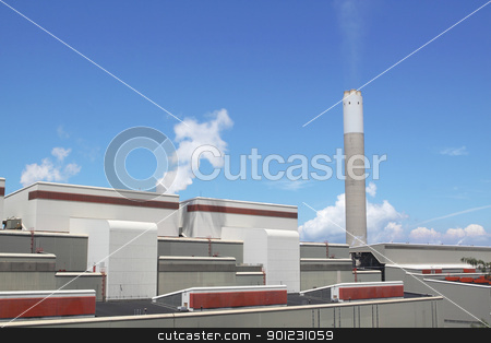 coal fired power station stock photo, coal fired power station by Keng po Leung