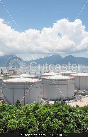 gas container stock photo, gas container in hong kong by Keng po Leung