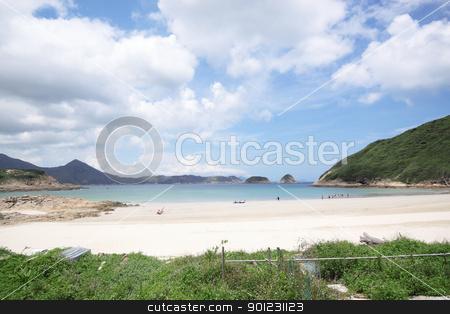 beach in Hong Kong  stock photo, beach in Hong Kong at day by Keng po Leung