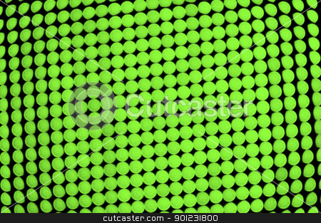 Green dots background stock photo, Green dots background, out of focus LED display by Dutourdumonde