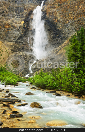 Takakkaw Falls waterfall in Yoho National Park, Canada stock photo, Takakkaw Falls waterfall in Yoho National Park, British Columbia, Canada by Elena Elisseeva