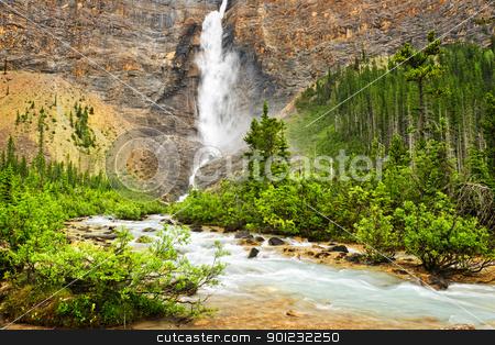 Takakkaw Falls waterfall in Yoho National Park, Canada stock photo, Takakkaw Falls waterfall in Yoho National Park, British Columbia, Canada by Elena Elisseeva