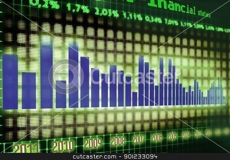financial graph stock photo, economy statistics by warenemy