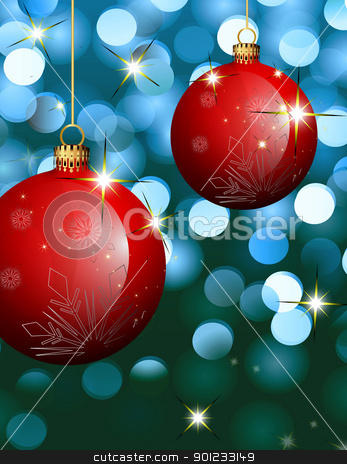baubles stock photo,  red Christmas  baubles by warenemy