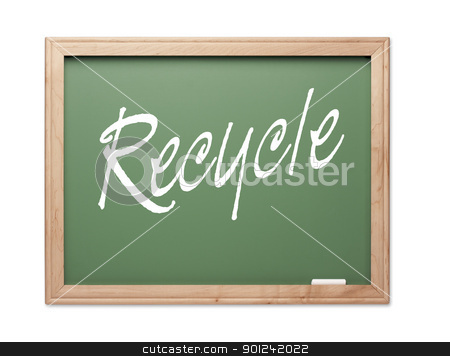 Recycle Green Chalk Board Series stock photo, Recycle Green Chalk Board Series on a White Background. by Andy Dean