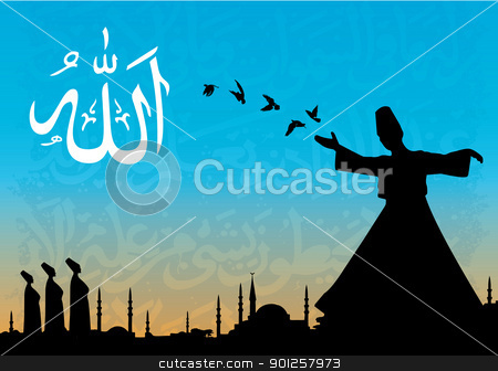 sufism stock vector clipart, vector illustration for sufism by Emir Simsek