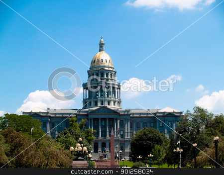 State Capital Building stock photo, State Capital building in the city of Denver, CO by Cora Reed