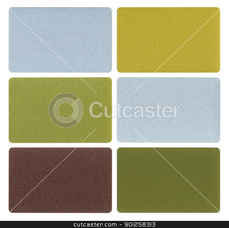 Set different plastic cards stock photo, Set different metallic plastic cards isolated from background by Imaster