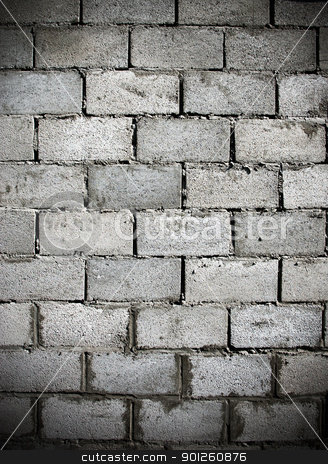 Dark brick wall stock photo, Fragment dark dirty weathered brick wall by Imaster