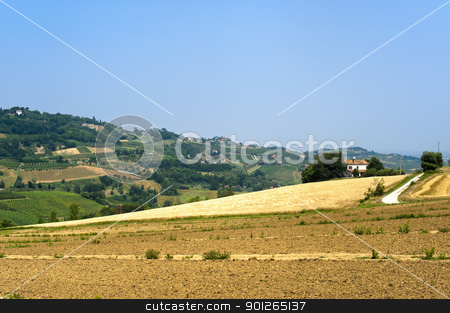 Landscape in Emilia Romagna (Italy) at summer stock photo, Landscape in Emilia Romagna (Italy) at summer by clodio