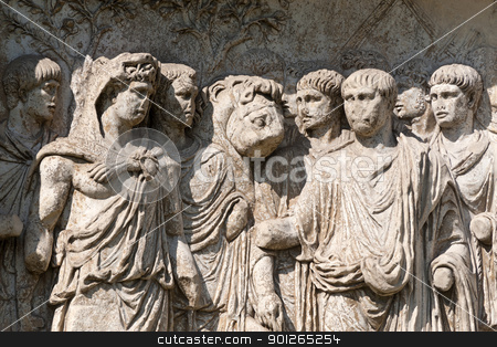 Benevento (Campania, Italy): Roman arch known as Arco di Traiano stock photo, Benevento (Campania, Italy) - Arch known as Arco di Traiano by clodio