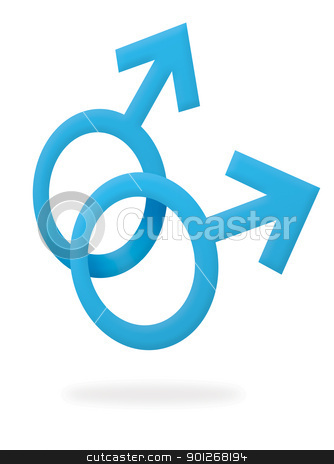 Gay male symbol stock photo, Gay male symbol by Lasse Kristensen@gmail.com