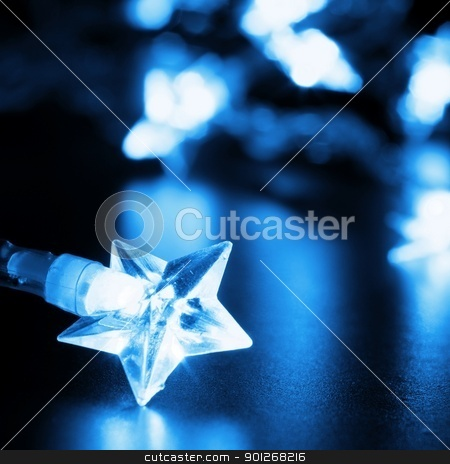 christmas lights stock photo, xmas or christmas holiday star lights with copyspace by Gunnar Pippel