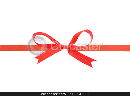 Beautiful red ribbon and bow stock photo, Beautiful red ribbon and bow by Lasse Kristensen@gmail.com