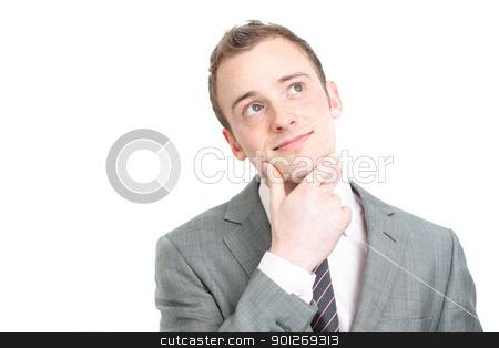 Business man contemplating stock photo, Business man contemplating by Lasse Kristensen@gmail.com