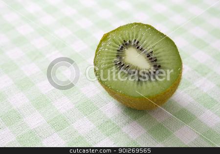 Sliced kiwi fruit stock photo, Sliced kiwi fruit by Lasse Kristensen@gmail.com