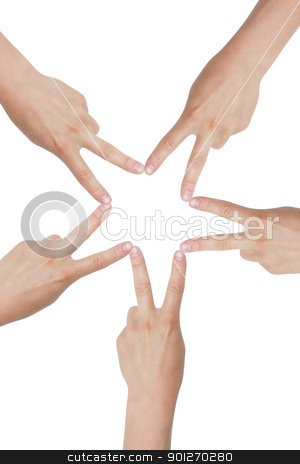 Star stock photo, Hands creating a star by Lasse Kristensen@gmail.com