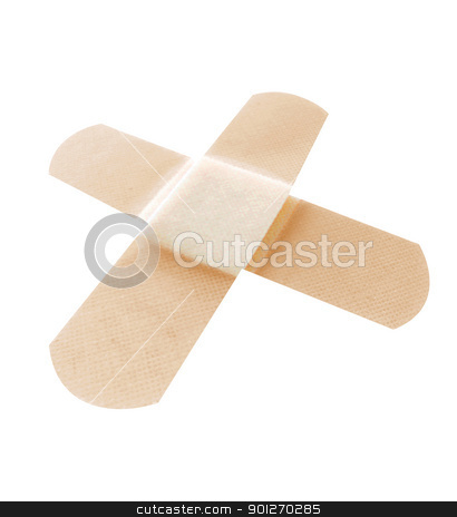 Bandage stock photo, Close up of a bandage on skin by Lasse Kristensen@gmail.com