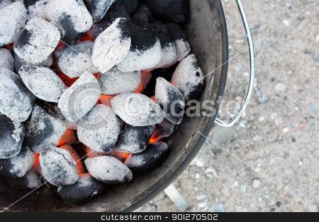 Coal stock photo, Coal in a grill by Lasse Kristensen@gmail.com