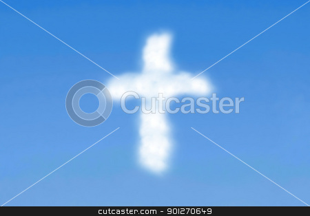 Cloudy cross stock photo, Cloudy cross by Lasse Kristensen@gmail.com