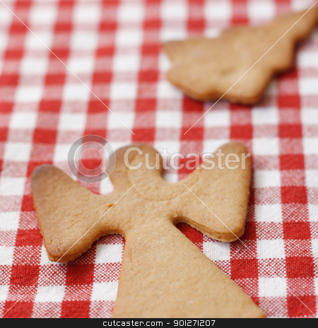 Gingerbread cookies stock photo, Gingerbread cookies on a table top by Lasse Kristensen@gmail.com