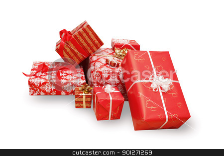 Presents stock photo, A lot of christmas presents by Lasse Kristensen@gmail.com