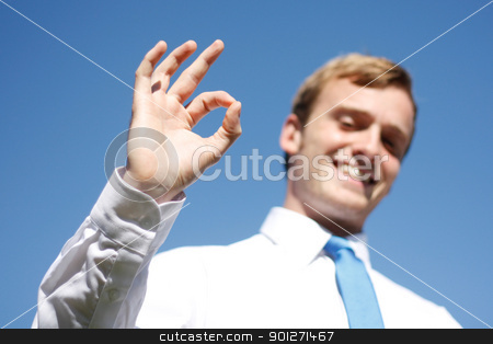OK sign stock photo, A business man displaying OK signs by Lasse Kristensen@gmail.com