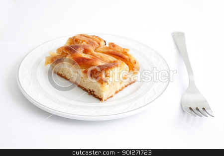 Apple tart stock photo, A delicious piece of apple cake by Lasse Kristensen@gmail.com