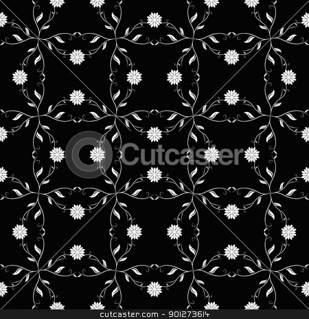 Seanless floral pattern stock vector clipart, Abstract background of beautiful seamless floral pattern by Ingvar Bjork