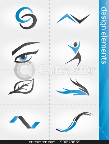 Design elements stock vector clipart, Design elements set with abstract modern icons by TheModernCanvas