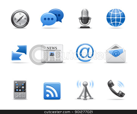 communication icons stock vector clipart, Communication icons for your design by artizarus