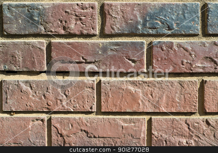 brick wall stock photo, section of an old brick wall. background texture by artizarus