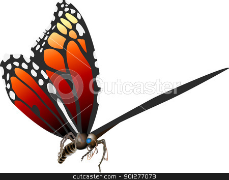 butterfly illustration stock vector clipart, A butterfly . Vector art in Adobe Illustrator 8 EPS format. Can be scaled to any size without loss of quality.  by Christos Georghiou