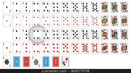 deck of cards stock vector clipart, complete deck of cards  by Christos Georghiou