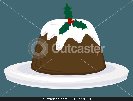 christmas pudding stock vector clipart, A Christmas pudding  by Christos Georghiou