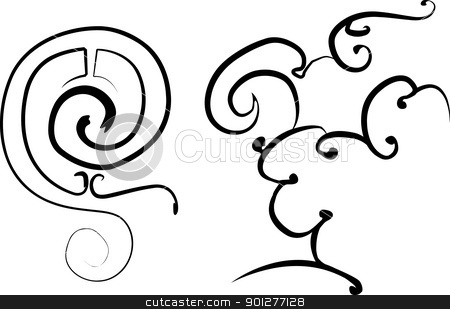 Design elements stock vector clipart, Design elements based on Chinese designs 9th-10th centuries BC.  by Christos Georghiou