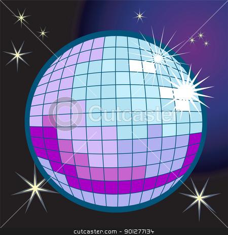 disco ball illustration stock vector clipart, a disco or mirror ball  by Christos Georghiou