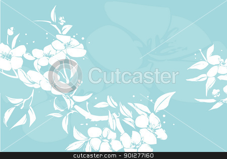 floral background stock vector clipart, A Floral background  by Christos Georghiou