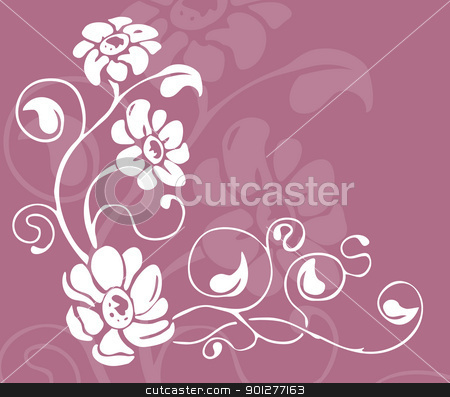 floral background stock vector clipart, Floral background  by Christos Georghiou