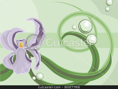 floral background stock vector clipart, An Orchid background  by Christos Georghiou