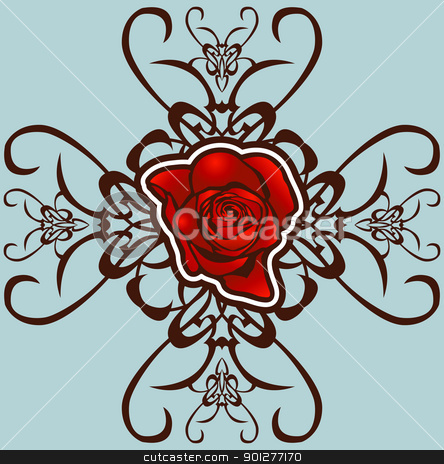 floral background stock vector clipart, A floral design element.  by Christos Georghiou