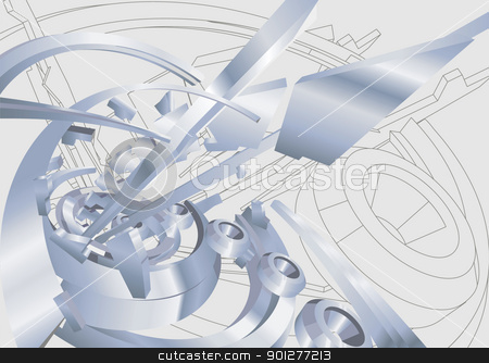 industrial illustration stock vector clipart, an industrial / technological background or design element.  by Christos Georghiou
