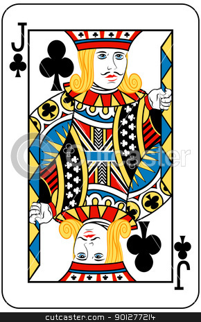 jack of clubs stock vector clipart, Jack of Clubs playing card by Christos Georghiou
