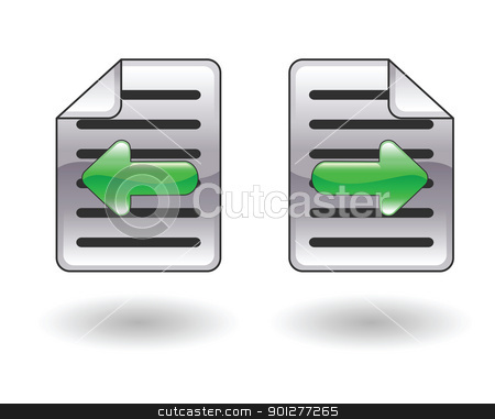 Back forward illustration stock vector clipart, Illustration of arrow icons representing back and forward by Christos Georghiou