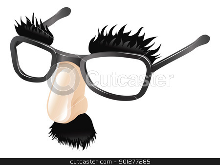 Funny disguise illustration stock vector clipart, Funny disguise, comedy  fake nose moustache, eyebrows and glasses. by Christos Georghiou