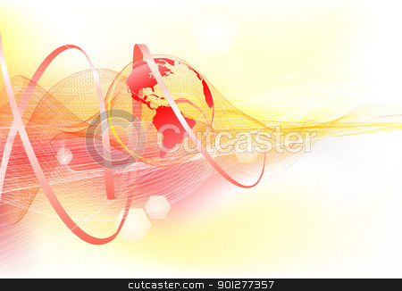 Abstract background with world globe stock vector clipart, Abstract corporate business background with world globe. by Christos Georghiou