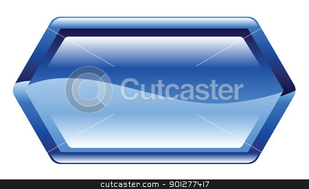 banner illustration stock vector clipart, Illustration of a blue banner by Christos Georghiou