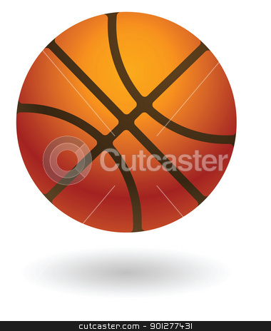 basketball Illustration stock vector clipart, Illustration of a basketball  by Christos Georghiou