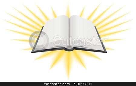 holy book illustration stock vector clipart, A Vector illustration of an open holy book such as the Bible, Torah or Koran  by Christos Georghiou