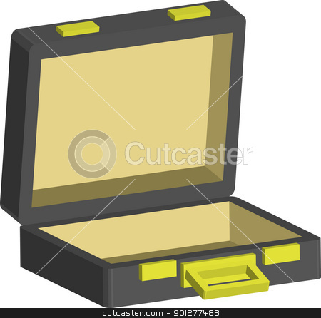 briefcase Illustration stock vector clipart, An illustration of a leather briefcase  by Christos Georghiou